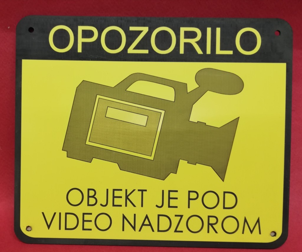 OPOZORILNA TABLICA, VIDEO NADZOR, AKCIJA 10%
